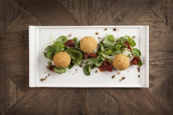 Goats Cheese and Fig Arrancini